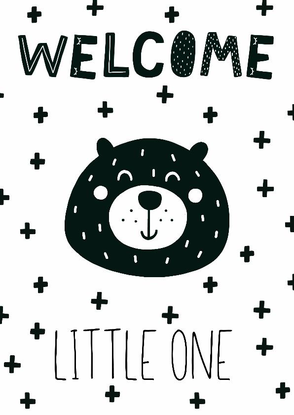 felicitatiekaart geboorte beer