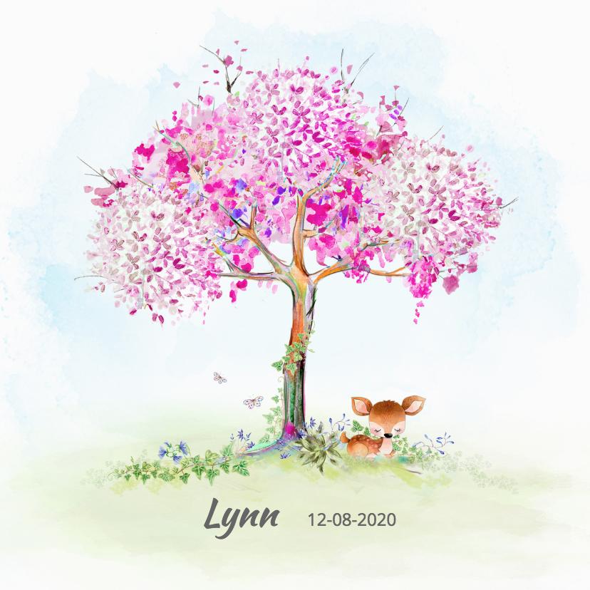 lente geboortekaartje