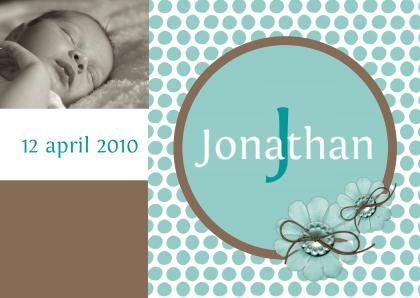 geboortekaartje-jonathan-polkadots
