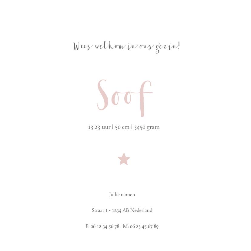 leuk geboortekaartje voor een dochter met sterren en stippen