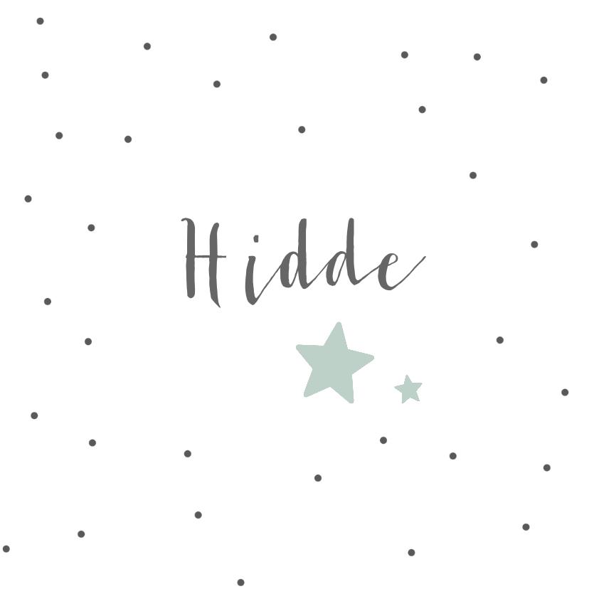 leuk geboortekaartje voor een zoon met sterren en stippen