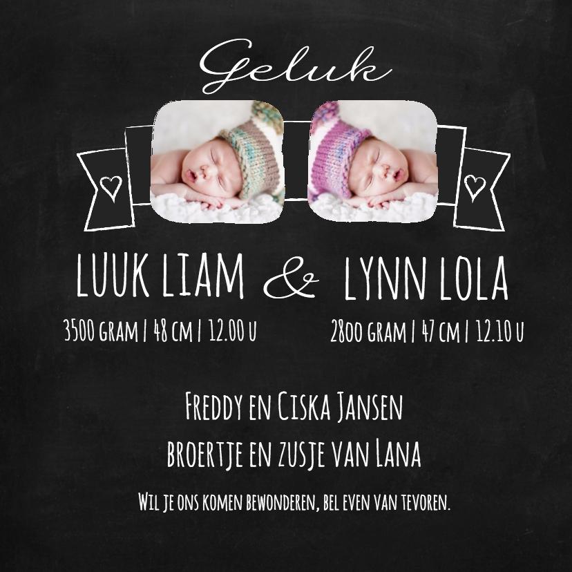 geboortekaartjes voor een tweeling