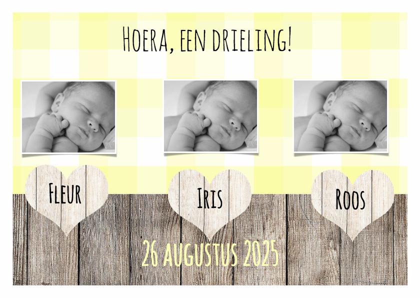 drieling geboortekaartje