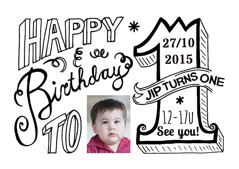 kinderfeestje 1 jaar uitnodiging
