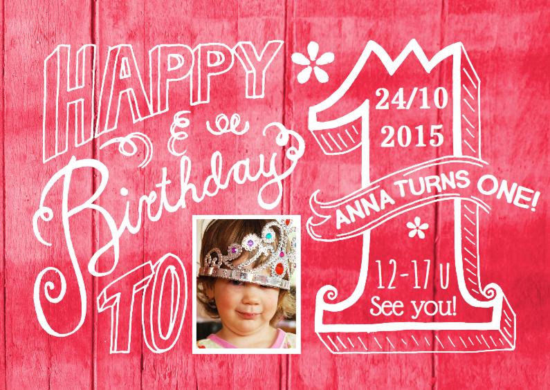 kinderfeestje uitnodiging 1 jaar